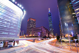 Taipei, Taiwan Cityscape in the Xinyi Financial District Photographic Print by  SeanPavonePhoto