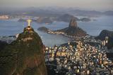 Aerial View of Christ, Sugarloaf, Guanabara Bay, Rio De Janeiro Papier Photo par  readytogo