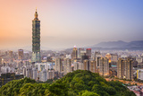 Taipei, Taiwan City Skyline Photographic Print by  SeanPavonePhoto