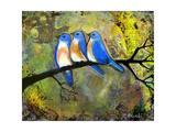 Three Little Bluebirds Impression giclée par Blenda Tyvoll