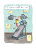 The Seven Second Workout - New Yorker Cartoon Premium Giclee Print by Roz Chast