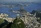Aerial View of Christ, Sugarloaf, Guanabara Bay, Rio De Janeiro Reproduction photographique par  readytogo