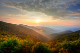 Sunset in the Mountains Photographic Print by  kevron2001