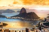 Rio De Janeiro, Brazil in Twilight Reproduction photographique par  SNEHIT