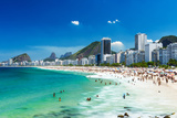 View of Copacabana Beach in Rio De Janeiro, Brazil Photographic Print by  ekaterina_belova