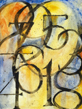 A Painting of the Numbers 0 to 9 Posters by  clivewa