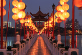Spring and Autumn Pavilions, Lotus Pond, Kahosiung Photographic Print by  outcast85