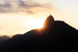 Sunset Mountain Christ the Redeemer, Rio De Janeiro Photographic Print by  jantima