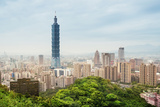 Taipei Skyline - Taiwan Photographic Print by  fazon