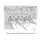"""This seems like a lot of work for one lost contact."" - New Yorker Cartoon Premium Giclee Print by Farley Katz"