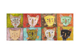 8 Cats Giclee Print by Jill Mayberg