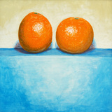 A Painting of Two Oranges Print by  clivewa