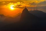 Sunset at Christ Redeemer, Rio De Janeiro, Brazil Photographic Print by det-anan sunonethong