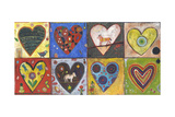 Eight Flat Hearts Giclee Print by Jill Mayberg