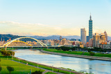 Skyline of the Taipei City by the River Photographic Print by  richie0703