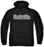 Hoodie: Gotham - Skyline Logo Pullover Hoodie