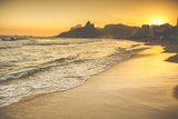Warm Sunset on Ipanema Beach with People, Rio De Janeiro, Brazil Photographic Print by Mariusz Prusaczyk