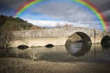 Ancient Roman Bridge over Alviela River - Pombalinho, Portugal Photographic Print by Jorge Anastacio