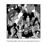 """""""I only keep selfies where I'm unrecognizably attractive."""" - New Yorker Cartoon Premium Giclee Print by William Haefeli"""