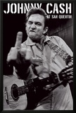 Johnny Cash- San Quentin Portrait Posters