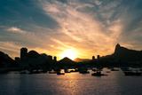 Rio De Janeiro Sunset above Botafogo Print by  dabldy