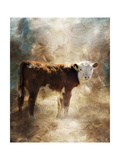 Calf in the Sunday Sun Giclée-tryk af Jai Johnson