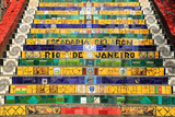 Tiled Steps at Lapa in Rio De Janeiro Brazil Fotografisk tryk af  padchas