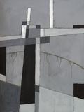 A Monochrome Abstract Painting Láminas por  clivewa