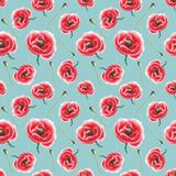 Watercolor Poppy Pattern Premium Giclee Print by  lenavetka87
