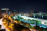 Night View of Botafogo Beach and Guanabara Bay in Rio, Brazil Prints by  dabldy