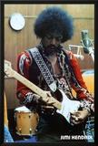 Jimi Hendrix Estudio Lámina