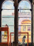 Watercolor of Museum Interior, Edinburgh, Scotland Prints by  clivewa