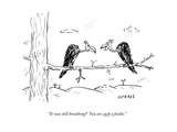 """It was still breathing?  You are such a foodie."" - New Yorker Cartoon Premium Giclee Print by David Sipress"