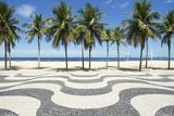Copacabana Beach Boardwalk Pattern Rio De Janeiro Brazil Photographic Print by  LazyLlama