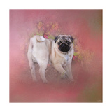 Pug in the Garden Giclee Print by Jai Johnson