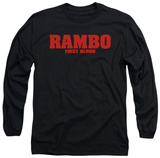 Long Sleeve: Rambo First Blood - Logo T-shirts