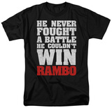 Rambo First Blood - He Never T-Shirts