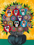 Sugar Skull Bouquet Giclee Print by Kerri Ambrosino