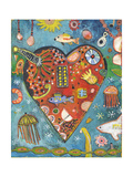 Sea Heart Giclee Print by Jill Mayberg