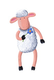 Cute Sheep with Flower Posters by  andreapetrlik