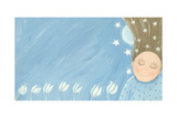 Little Girl Dreaming in the Garden Posters by  andreapetrlik