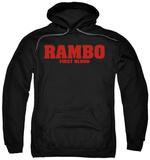 Hoodie: Rambo First Blood - Logo Pullover Hoodie