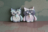 Owl Quilled Boy and Girl Photographic Print