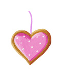 Gingerbread Christmas Heart Cookie Prints by  andreapetrlik