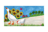 Goose with Hen on Village Way Prints by  andreapetrlik