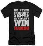 Rambo First Blood - He Never (slim fit) T-Shirt