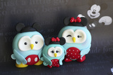 Owl Family Mickey Vacation Photographic Print