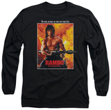 Long Sleeve: Rambo First Blood II - Poster T-Shirt