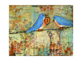 Love Lock Giclée-tryk af Blenda Tyvoll