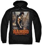 Hoodie: Rambo First Blood II - The Hunt Pullover Hoodie